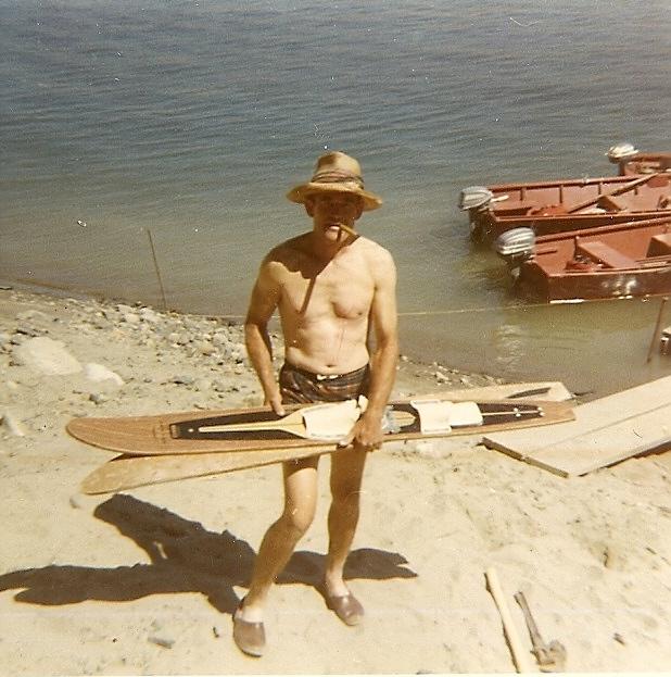 Walt with skis